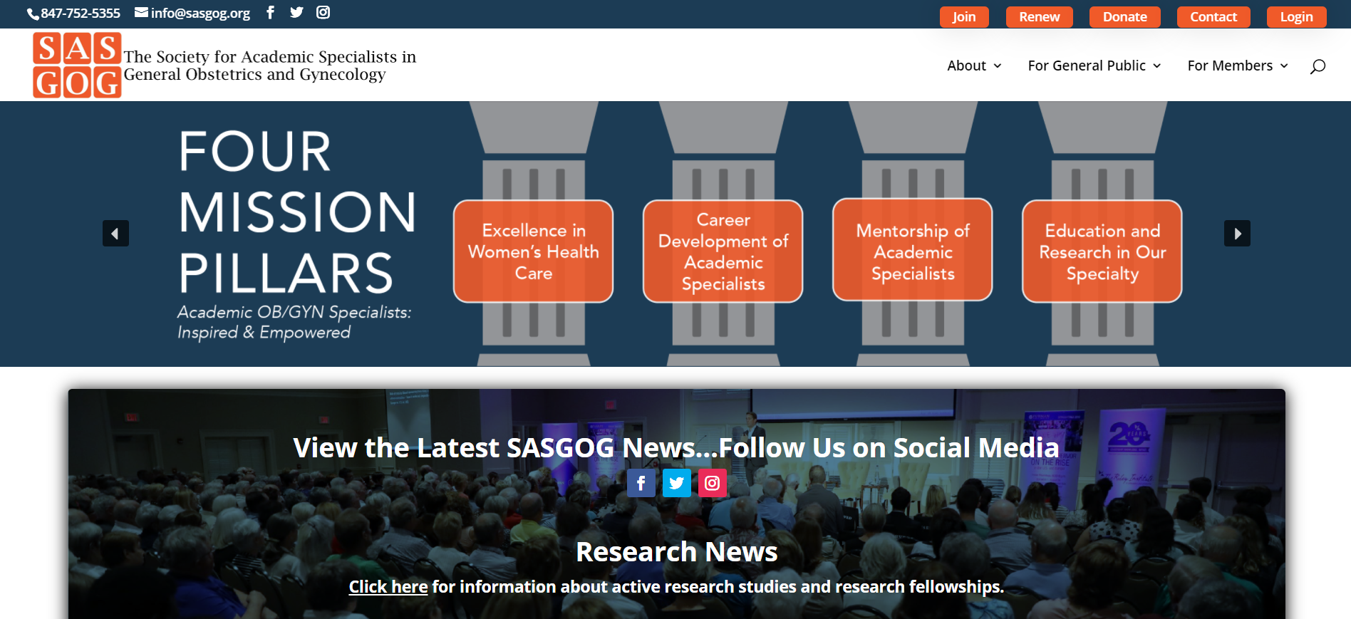 sasgog website screenshot